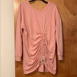 Caslon Pink Ruched Front Tunic